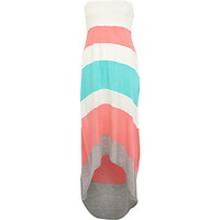 Pink color block dip hem maxi dress - cover-ups - swimwear / beachwear - women