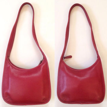 On Sale!!! Coach Red Leather ERGO Hobo Bag (L7D 9020)
