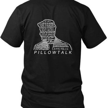 Zayn Malik Pillowtalk Dirty And Raw 2 Sided Black Mens T Shirt