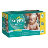 Pampers Softcare Baby Fresh Wipes 12x Box With Tub 864 Count   deviazon.com