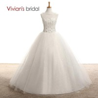 Bridal Ball Gown Country Western Wedding Dress Sleeveless Tulle Wedding Gown