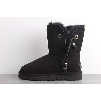 Sale Ugg 1017496 Black Classic Maia Sheepskin Boot Snow Boots