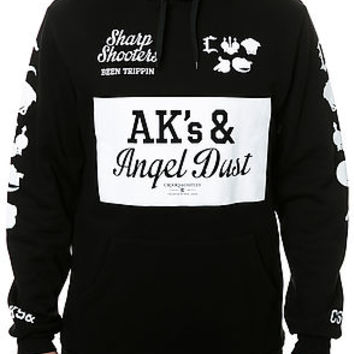 The AK & Angel Dust Hoodie in Black