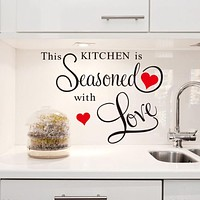 Kitchen Wall Stickers Decoration This Kitchen Is Seasoned with Love