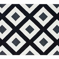 One Kings Lane - Modern Nomad - Barcelona Rug, Black