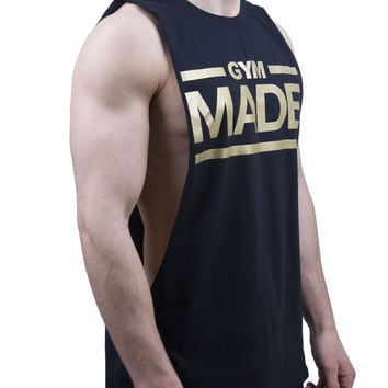 Gym Made Cut Off T Shirt - Black