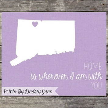 Home is Wherever I am with You 8 x 10 Digital Print {Custom}