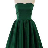 Bustier Strapless Dress in Green