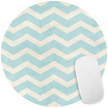 Sea Salt Chevron Mouse Pad Decal
