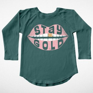 Stay Gold Long Sleeve Tee
