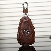 TOYOTA Fashion Leather Zipper Car Key Wallet Case Cover