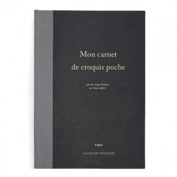 Large Black Mon Carnet De Croquis Poche Notebook - home office - house & home