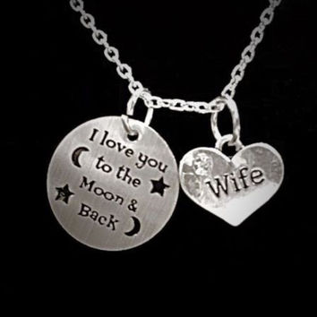 Infinity I Love You To The Moon And Back Valentine Wife Gift Necklace