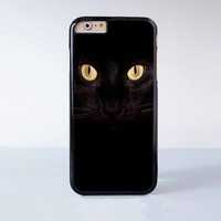 """Black cat plastic phone case for iPhone 6 (4.7"""")  More case style can be selected"""