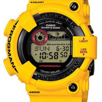 Casio G-Shock Atomic Solar Frogman - Tide & Moon Graph - Yellow Case & Strap