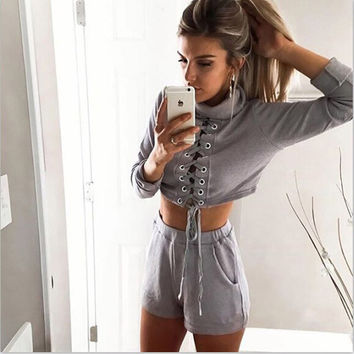 Stylish Fashion Women's Fashion Sportswear Set [6572643207]