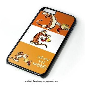 Calvin And Hobbes Orange iPhone and iPod Case