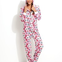 Paul Frank Sparkle Ice Hooded Footed Pajamas