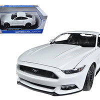 2015 Ford Mustang GT 5.0 White 1-18 Diecast Car Model by Maisto