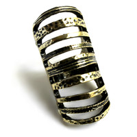 """Intergalactic"" Dark Tone Gold Ring"