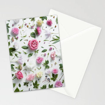 Flower Petals Stationary, Floral Stationary, Blank Stationary Set, Blank Flower Thank You Cards, Blank Stationary Cards, Flower Note Cards