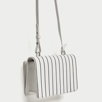 CONTRASTING STRIPES LEATHER CROSSBODY BAG