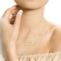 Handmade Personalized Name Necklace (Order Any Name) Sterling Silver