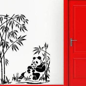 Wall Stickers Vinyl Decal Nursery Panda Cute Animals for Kids Room Unique Gift (ig475)