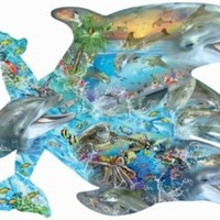 Song of the Dolphins a 1000-Piece Jigsaw Puzzle by Sunsout Inc.