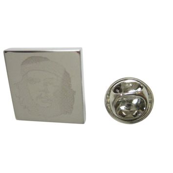 Silver Toned Etched Che Guevara Lapel Pin