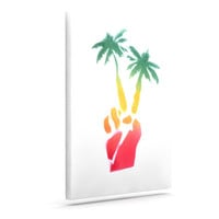 "Infinite Spray Art ""Peace Palms"" Palm Tree Canvas Art"