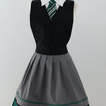 Harry Potter Slytherin inspired apron