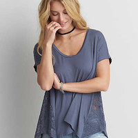 AEO Soft & Sexy Lace Jegging T-Shirt , Skylight