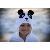 Panda Hooded Cotton Turkish Towel: Little Kid