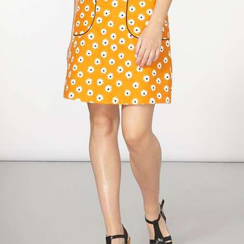 Orange Daisy A-line Skirt - Skirts - Clothing