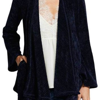 BB Dakota Chenille of Fortune Drape Front Cardigan Jacket