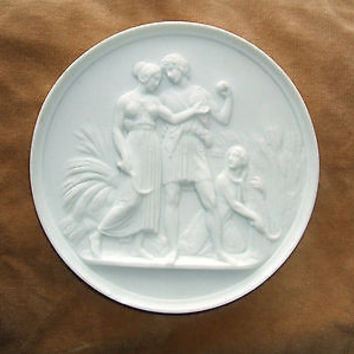 Vintage Royal Copenhagen Porcelain Plaque Original Bing & Grondahl