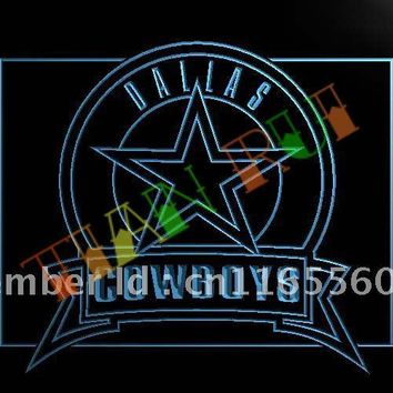 LD483- Dallas Cowboys Badge LED Neon Light Signn