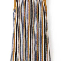 Sleeveless Striped Knit Mini Shift Dress