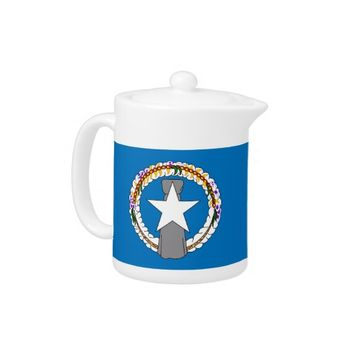 Northern Mariana Islands Flag Teapot
