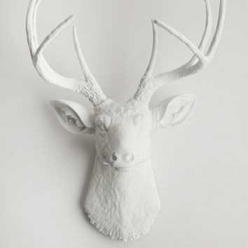 Faux Taxidermy - Deer Head - The Templeton - Wall Animal Mount - Decorative Deer Heads - Wall Art Decor