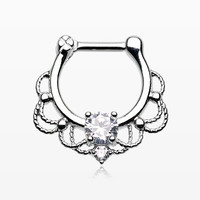 Turan Sparkle Septum Clicker Ring