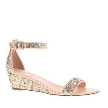 Lillian glitter low wedges - sandals - Women's shoes - J.Crew