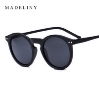 Brand Designer Ellipse Shape Multiple Color Reflective Sunglasses Women Vintage Keyhole Mirror Glasses oculos feminino MA019