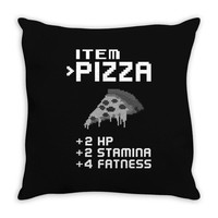 Facts Of Pizza Throw Pillow