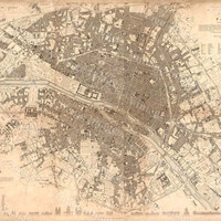 Old Paris Map, 1834 Giant Restoration Hardware Style Map Paris wall Map Fine art Print Poster Old Map of Paris, Antique Map wall art