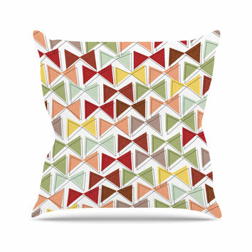 """Michelle Drew """"Bowties"""" Red Maroon Throw Pillow"""