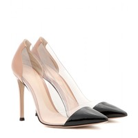 gianvito rossi - patent-leather and transparent pumps