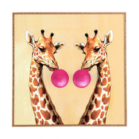 Coco de Paris Giraffes with bubblegum 1 Framed Wall Art