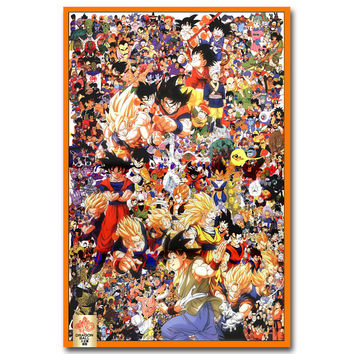 Dragon Ball Z All Characters Art Silk Poster Print 13x20 24x36inch New Japanese Anime Wall Pictures for Home Wall Decor